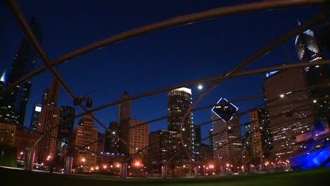 Downtown-Chicago-skyline-at-night-from-Millennium-park-3