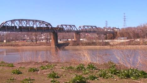 A-freight-train-crosses-a-bridge-over-the-Missouri-River