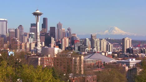 An-establishing-shot-of-Seattle-with-the-Space-Needle-