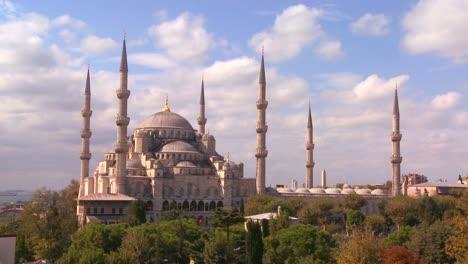 La-Mezquita-Azul-En-Estambul-Turquía-En-Lapso-De-Tiempo