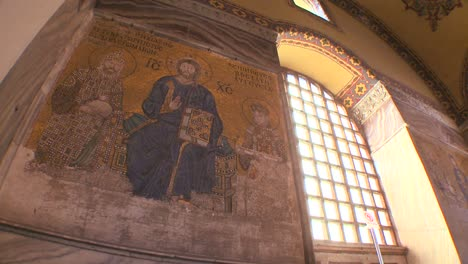 Christian-murals-the-spacious-of-the-famous-of-Hagia-Sophia-Mosque-in-Istanbul-Turkey