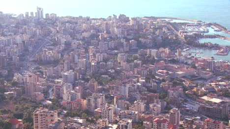 High-angle-view-of-the-urban-sprawl-of-Beirut-Lebanon-1