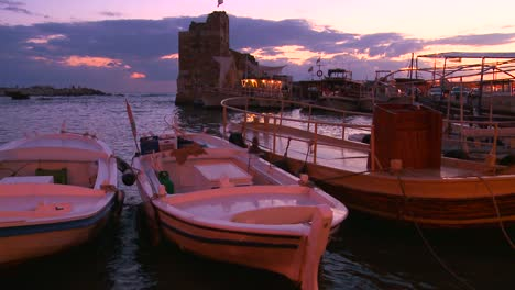 Fishing-boats-bob-in-the-waves-at-the-beautiful-and-historic-fishing-village-of-Byblos-on-the-coast-of-Lebanon-1