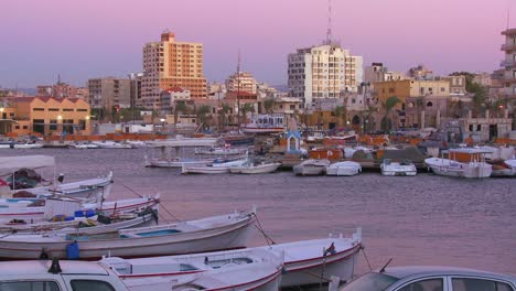 A-high-angle-view-over-the-beautiful-fishing-village-of-Tyre-Lebanon