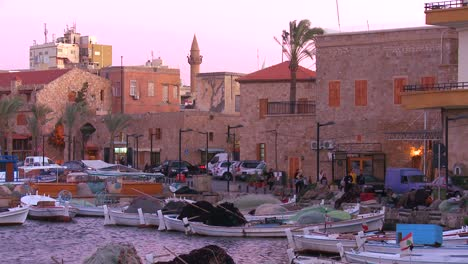 A-high-angle-view-over-the-beautiful-fishing-village-of-Tyre-Lebanon-1