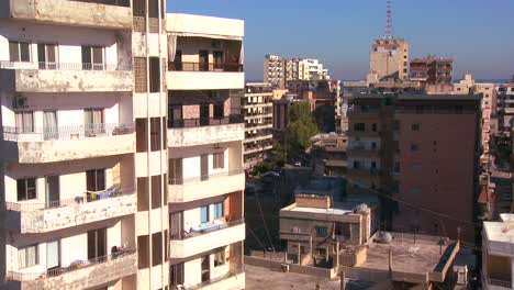Downtown-Tyre-Lebanon-with-office-buildings-and-apartments