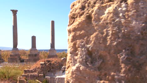 A-move-across-the-pillars-of-the-ruins-of-Tyre-in-Lebanon