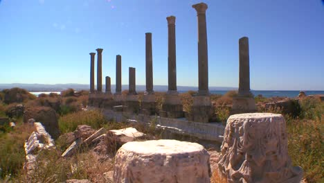 A-move-across-the-pillars-of-the-ruins-of-Tyre-in-Lebanon-2