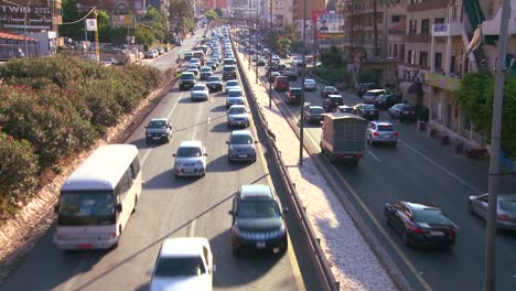 Traffic-clogs-the-roads-of-Beirut-Lebanon