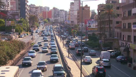 Traffic-clogs-the-roads-of-Beirut-Lebanon-1