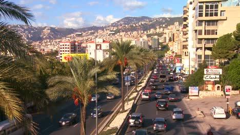 Traffic-clogs-the-roads-of-Beirut-Lebanon-2