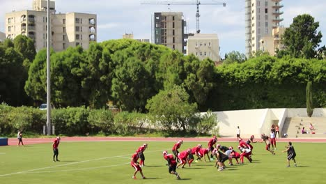 A-football-team-practices-on-the-athletic-field-at-the-American-University-Of-Beirut-in-Lebanon-1