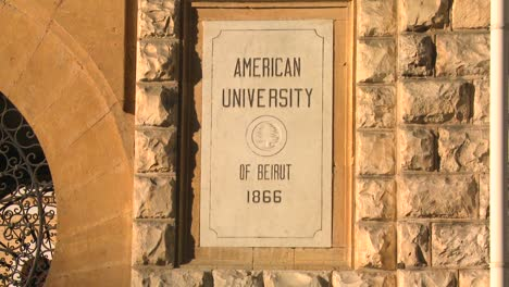 A-sign-identifies-the-American-University-of-Beirut-in-lebanon