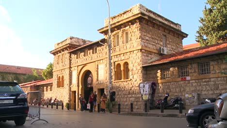 The-exterior-gate-of-the-American-University-of-Beirut-in-Lebanon