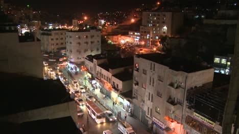 Night-time-lapse-of-downtown-Amman-Jordan