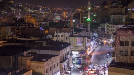 High-angle-night-time-lapse-of-downtown-Amman-Jordan-1