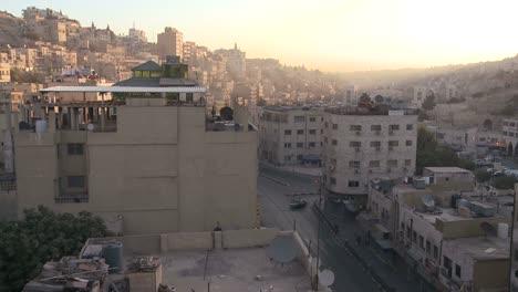 High-angle-morning-timelapse-of-Amman-Jordan