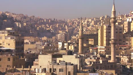 High-angle-morning-skyline-view-of-Amman-Jordan-1