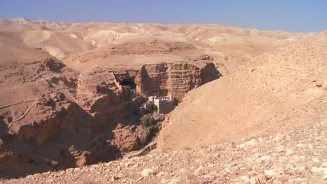 Zoom-into-the-Christian-monastery-of-St-Georges-in-the-Judean-hills-near-the-Dead-Sea
