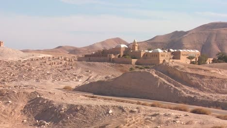 The-monastery-of-Moses-in-the-Judean-Hills-near-the-Dead-Sea-in-israel