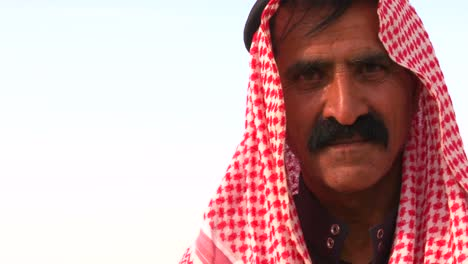 Close-up-of-the-face-of-a-Bedouin-man-in-Palestine