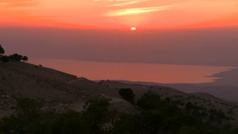 A-beautiful-sunset-behind-the-Dead-Sea-in-Jordan-1