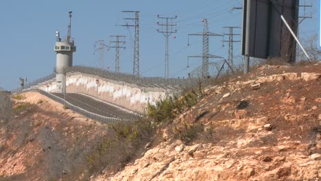 Guard-towers-monitor-activity-along-the-new-West-Bank-Barrier-between-Israel-and-the-Palestinian-territories