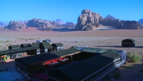 High-angle-over-a-large-Bedouin-camp-in-Wadi-Rum-Jordan
