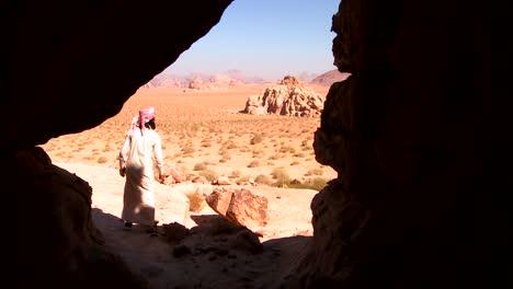A-Bedouin-man-looks-out-across-the-desert