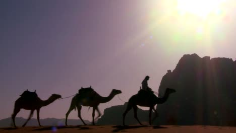 A-camel-train-passes-directly-over-the-camera-in-the-Saudi-desert-of-Wadi-Rum-Jordan-2