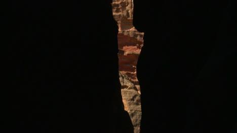 View-of-the-facade-of-the-Treasury-building-in-the-ancient-Nabatean-ruins-of-Petra-Jordan-through-the-narrow-canyon-entrance-1