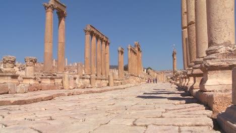An-ancient-Roman-road-through-the-ruins-of-Jerash-in-Jordan