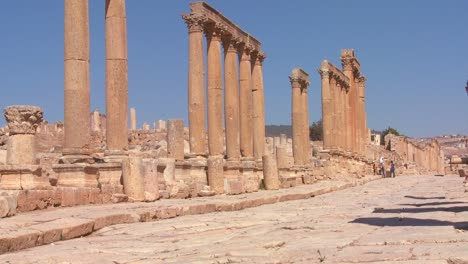 An-ancient-Roman-road-through-the-ruins-of-Jerash-in-Jordan-1