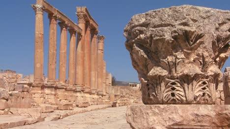 An-ancient-Roman-road-through-the-ruins-of-Jerash-in-Jordan-2