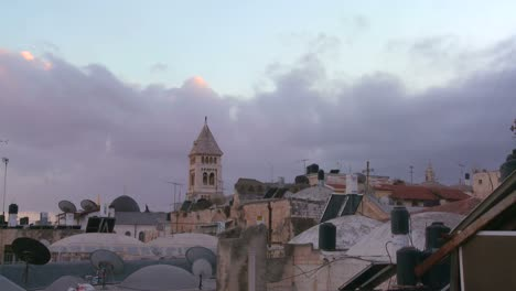 A-time-lapse-view-over-the-city-skyline-of-the-old-city-of-Jerusalem