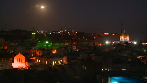 Night-over-the-old-city-of-Jerusalem-with-the-moon-rising