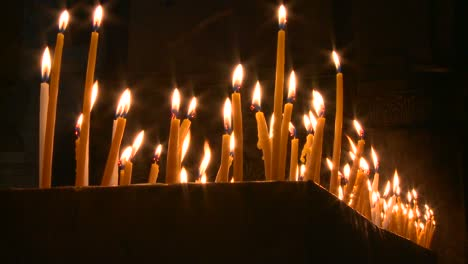 Candles-burn-in-rows-in-a-church-in-the-heart-of-Jerusalem