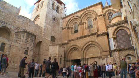The-exterior-of-the-famed-Church-of-the-Holy-Sepulcher-in-Jerusalem-Israel
