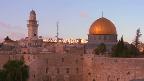 A-timelapse-shot-of-clouds-moving-behind-the-Dome-of-the-Rock-in-the-Old-City-of-Jerusalem