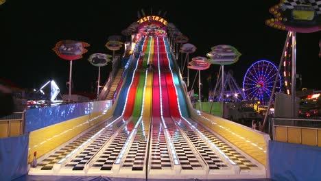 A-slide-at-a-carnival-at-night