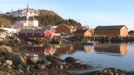 A-pretty-small-village-in-the-Arctic-Lofoten-Islands-Norway
