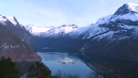 Tranquil-and-peaceful-high-shot-of-the-fjords-of-Norway
