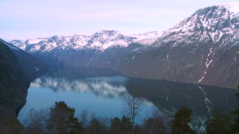 Tranquil-and-peaceful-high-shot-of-the-fjords-of-Norway-1