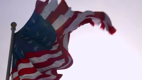 An-American-flag-waves-in-slow-motion