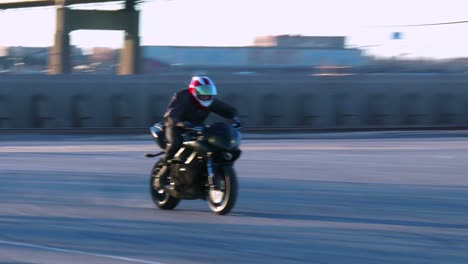 A-rider-performs-amazing-stunts-on-a-motorcycle