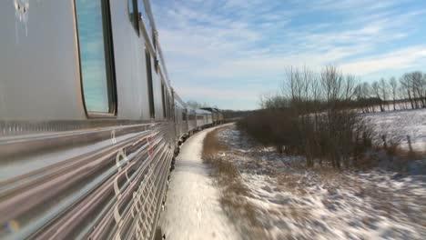 POV-of-a-VIA-rail-train-passing-through-the-Canada-arctic