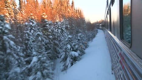 POV-of-a-VIA-rail-train-passing-through-the-Canada-arctic-3