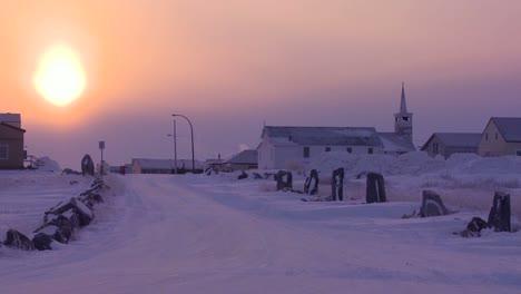 Atardecer-O-Amanecer-En-Churchill-Manitoba-Canadá-Bahía-De-Hudson