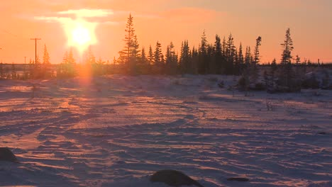 Sunrise-over-frozen-tundra-in-the-Arctic-1