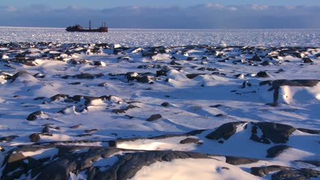 A-ship-sits-trapped-in-the-ice-of-frozen-Hudson-Bay-Churchill-Manitoba-Canada-1